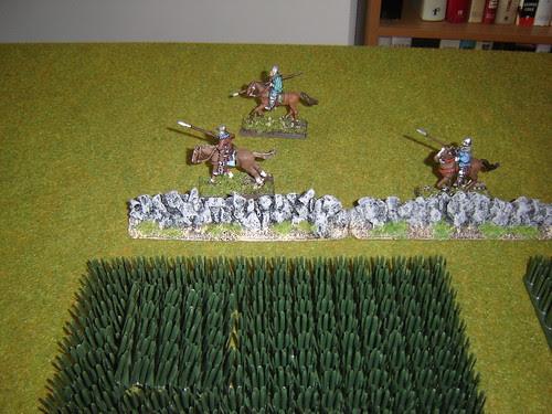 Geoffrey of Brabant's light cavalry race around field