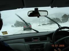 Dalam Perjalanan ke Ski Resort Perisher Blue, Snowy Mountains, Australia