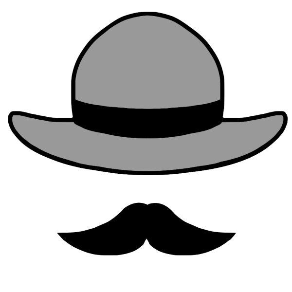 帽子とヒゲのイラスト かわいいフリー素材が無料のイラストレイン