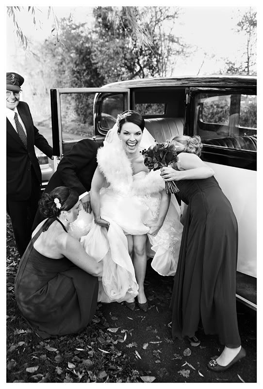 Wedding photography at the Reid Rooms_Essex wedding photography_Phil Lynch Photographer, Black and white shot of bride arriving at church