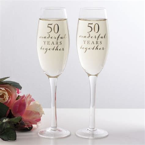 Happy 50th Anniversary Glasses   The Gift Experience