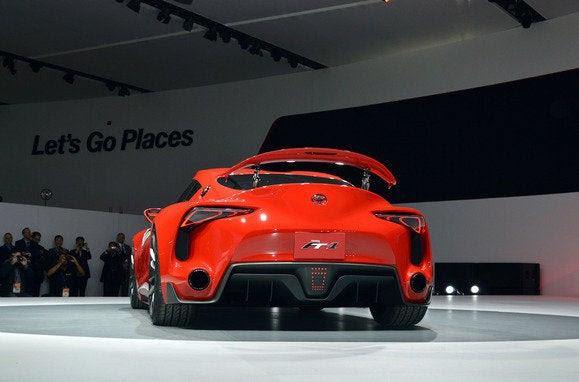 toyota conceito ft1 NAIAS traseiros Detroit Auto Show jan 2014