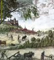 Paisaje agrario del siglo XVIII. Ampliar imagen