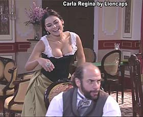Carla Regina sensual nas novelas Bela a Feia e Essas Mulheres