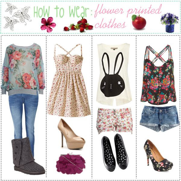 How to wear: Floral printed Clothes