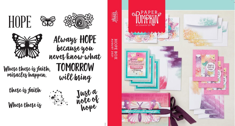 August 2021 Paper Pumpkin: Hope Box Stamp Case Insert