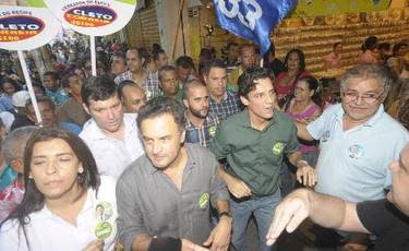 Ao lado de Aécio Neves, Daniel ataca Geraldo e poupa Humberto (Eduarda Bione/ Esp. DP/ D. A Press)