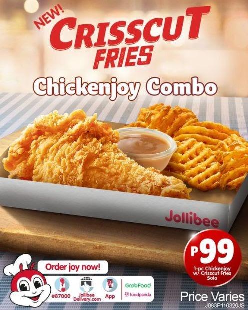 new Jollibee Chickenjoy with Crisscut Fries Combo