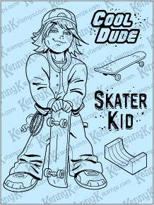 """KennyK """"Ryder Cole"""" clear stamp set"""
