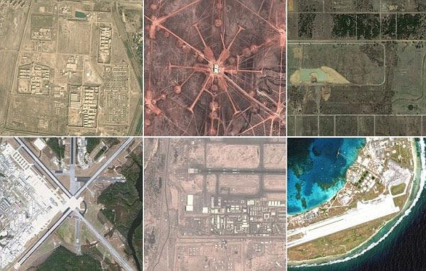 Bases militares secretos do Exército dos EUA em todo o mundo revelou no Google e Bing