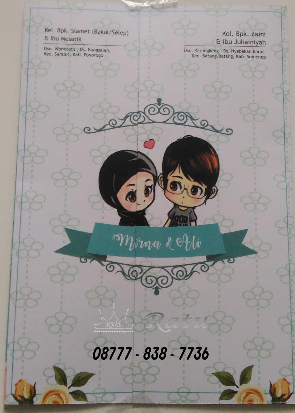 Gambar Kartun Muslimah Pernikahan Top Gambar