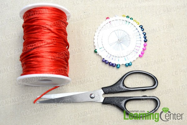 Supplies needed while tying the decorative knot