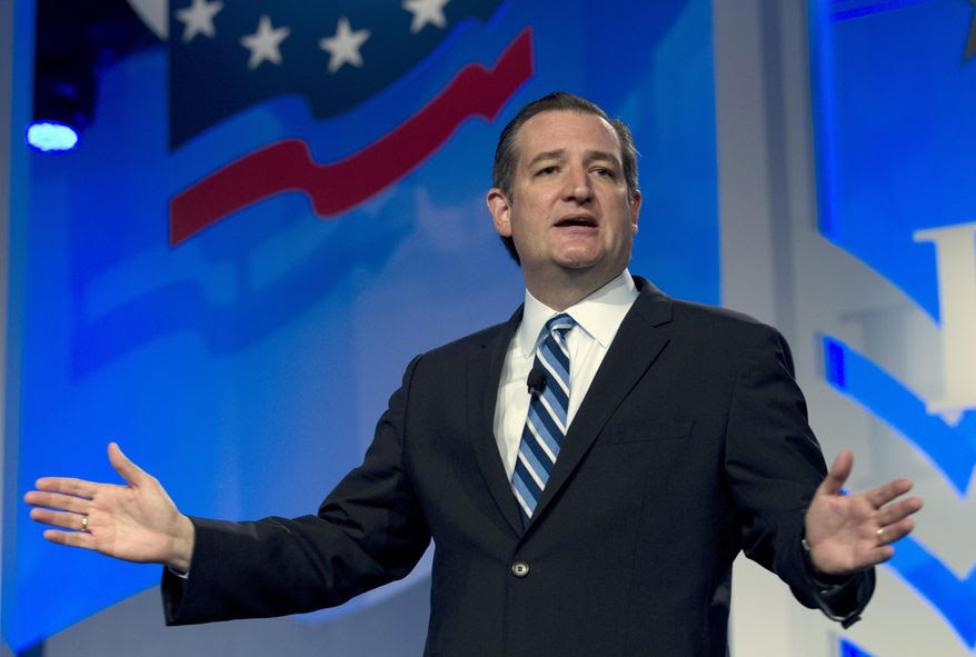 Republican presidential candidate Sen. Ted Cruz, R-Texas speaks during the Values Voter Summit, held by the Family Research Council Action, Friday, Sept. 25, 2015, in Washington. (AP Photo/Jose Luis Magana)