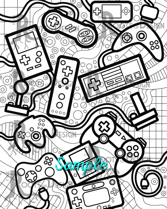 Video Game Coloring Pages   Free download on ClipArtMag
