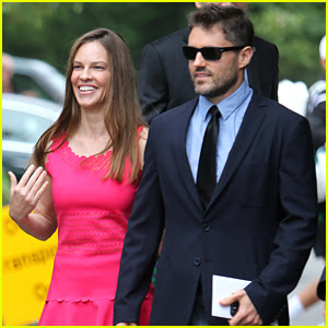 Hilary Swank's Boyfriend Philip Schneider Joins Her at Wimbledon Finals