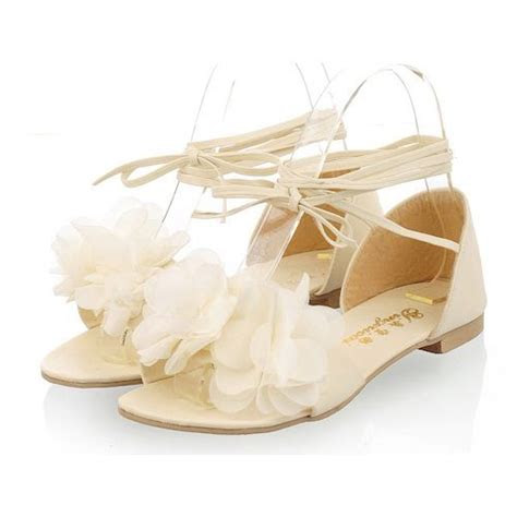 discount ivory flat strappy summer wedding bridal party