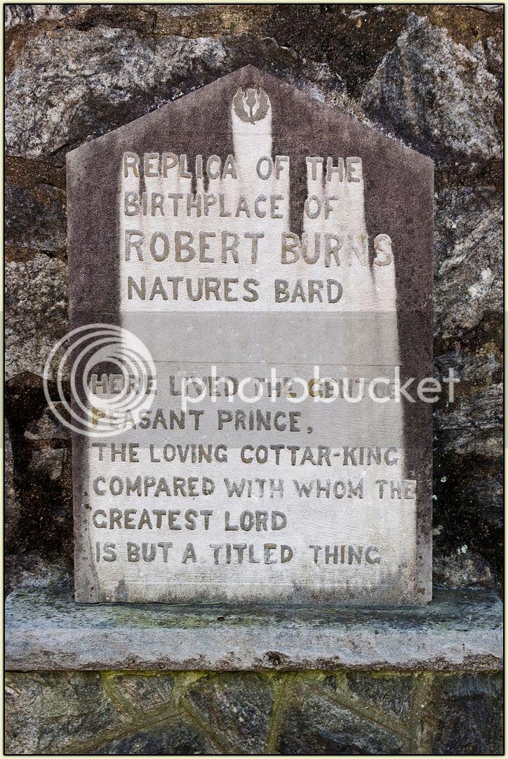 Burns House stone