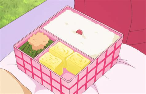 anime food bento gif find share  giphy