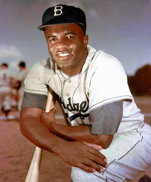 vintagesportspictures:<br /><br />Jackie Robinson (undated)<br />