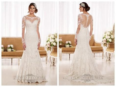 Timeless Vintage Lace Fit And Flare Wedding Dresses With