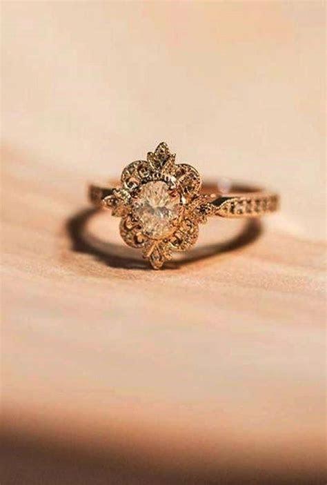 Vintage Style Marquise Diamond Engagement Ring Vintage
