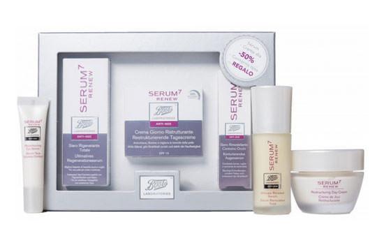 Cofre Serum7 Renew de Laboratorios Boots  serum 7 renew, crema, serum, contorno ojos, cosmética, blog soloyo,