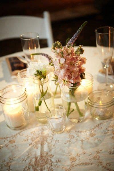 mason jar decorations for rustic weddings   Mason jar