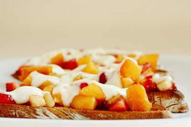 Sweet Fruit Bruschetta For Breakfast