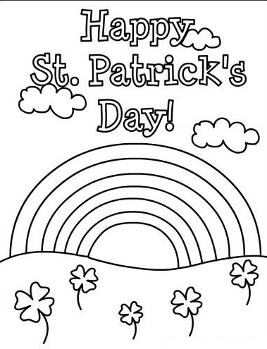 happy st patrick's day rainbow coloring pages for preschooler  preschool crafts