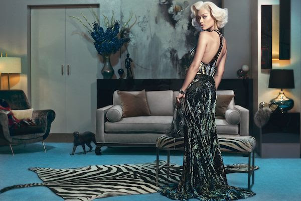Rita Ora for Roberto Cavalli fall winter 2014