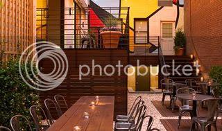 Pod's open-air restaurant 1
