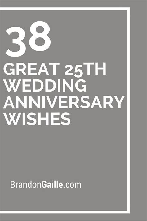38 Great 25th Wedding Anniversary Wishes   25th wedding