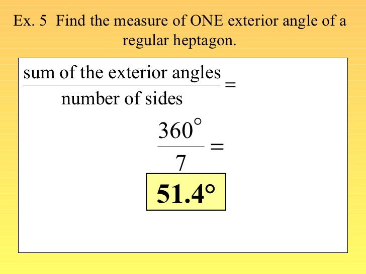 find angle measures in a polygon 16 728