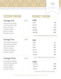 480 Customizable Design Templates For Price List