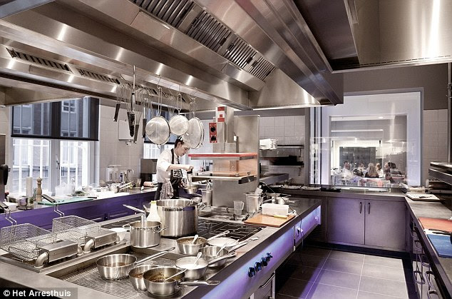 Sparkling: The kitchen facilities are certainly an improvement on those when Het Arresthuis was a jail