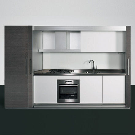 Enclosed mono-block kitchen design from Dada - the Tivali compact ...