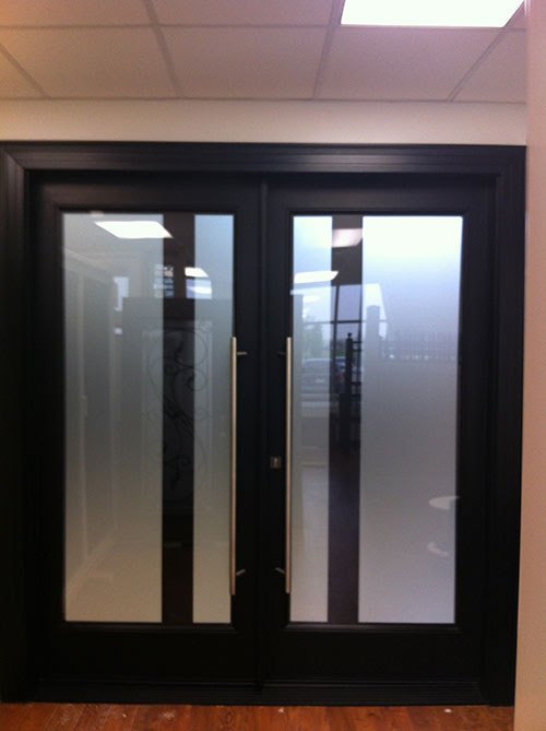 Modern Contemporary Front Double Doors Fiberglass with Frosted Glass by modern doors