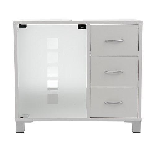 waschtischunterschrank mit 3 schubladen in wei waschtisch. Black Bedroom Furniture Sets. Home Design Ideas