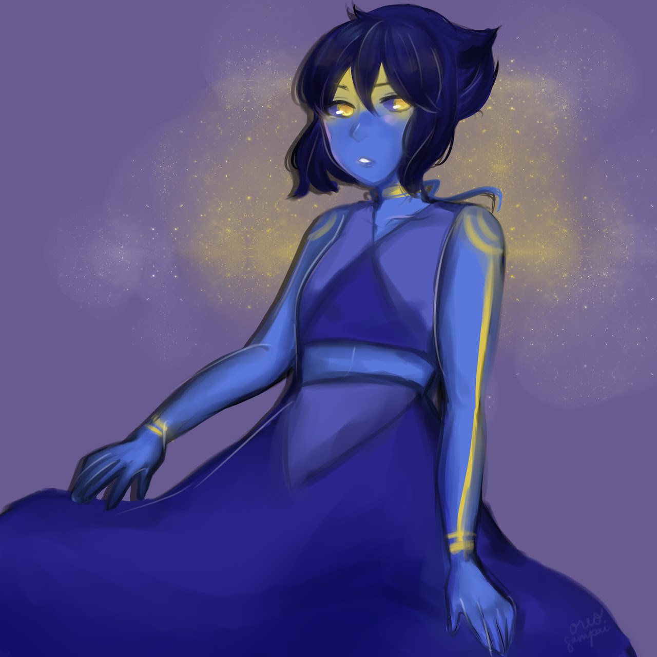 AYYY long time no post!! anyway heres a lapis i drew for my friend