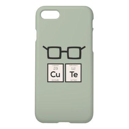 Cute chemical Element Nerd Glasses Zwp34 iPhone 7 Case