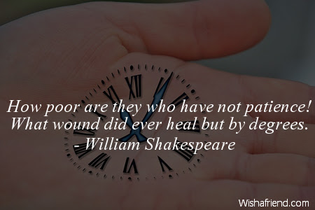 William Shakespeare Quote How Poor Are They Who Have Not Patience