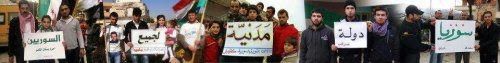"""The message is the same all across the country: """"Syria is a Civil State for All Syrians"""""""