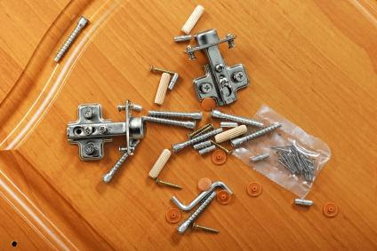 The pieces of a furniture kit