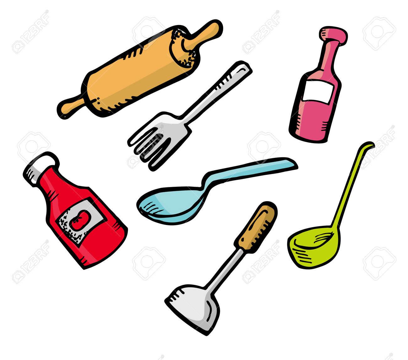 Dessin ustensile de cuisine id es inspir es pour la - Ustensile de cuisine commencant par p ...