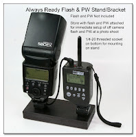 DF1033: Always Ready Flash & PW Stand / Bracket - Flash and PW Not Included