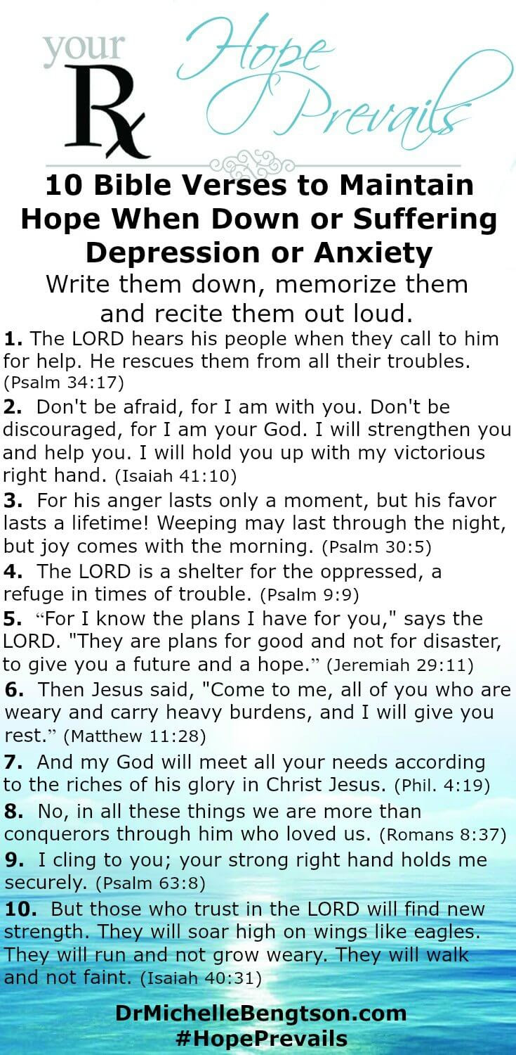 10 Verses of Hope for When You Are Down or Depressed | Dr ...