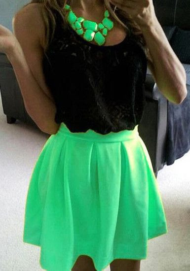 love neon! couldn't be happier the trend is sticking around - (although it should be more accessories during the cooler winter months) @veronicalewi