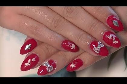 Red Gel Nails Designs