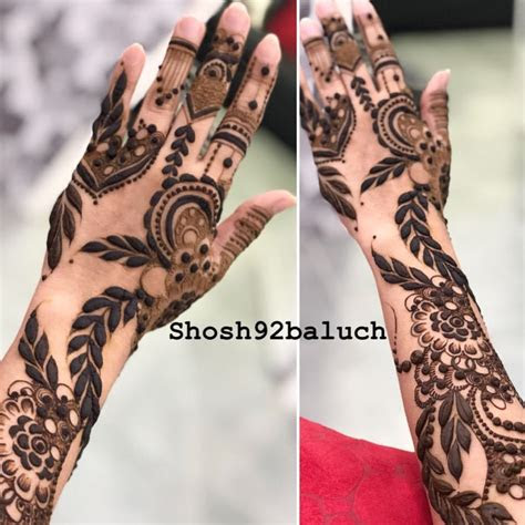 mehndi design leave