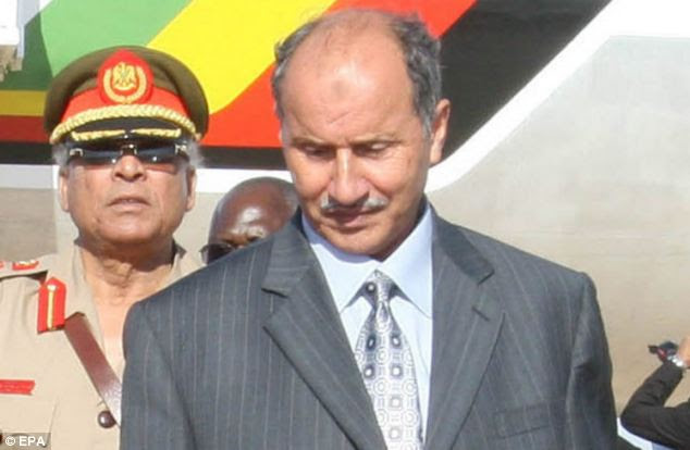 J'accuse: Libya's former Justice Minister Mustafa Mohamed Abdel-Jalil, right, accused Col Gaddafi of personally ordering the Lockerbie bombing